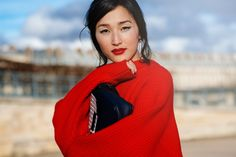 Red sweater, red lipstick   THE LOCALS