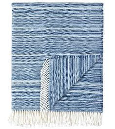 Strié Sapphire Throw from Eastern Accents