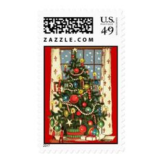 Vintage Christmas Tree Postage