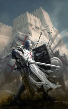 Discover Knight Templar Warrior T T-Shirt, a custom product made just for you by Teespring. - Beautiful and quality Knight Templar Warrior T. Crusader Knight, Knight Armor, Medieval Knight, Medieval Fantasy, Paladin, Knight Tattoo, Christian Warrior, Armadura Medieval, Chivalry