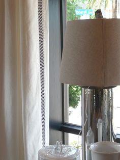 Chevron Trim on Curtains at The New Boxwood Interiors