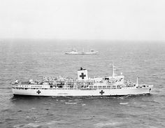 Uganda, as hospital ship during the Falklands war