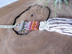 Boho Woven Fiber Necklace  textile jewelry  fiber by RebeccaDaryl
