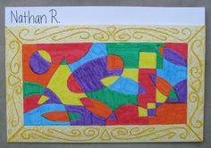 Grade 3 Portfolios – The Shapes and Colors of Joy | TeachKidsArt