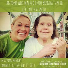 International Down Syndrome Coalition- IDSC: With love, we remember Brenda