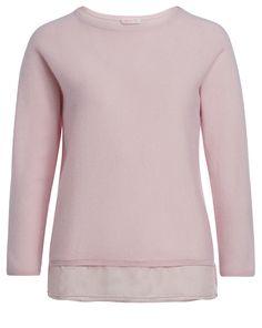 Kaschmir-Pullover mit Seiden-Ansatz - rosa von FTC bei Label Kitchen jetzt kaufen | kleidoo