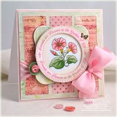 card designed by Debbie Olson using JustRite My Garden