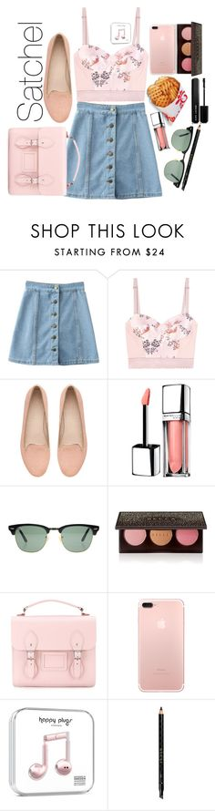 """Satchel Bag💼"" by varrica ❤ liked on Polyvore featuring STELLA McCARTNEY, Witchery, Maybelline, Ray-Ban, Becca, The Cambridge Satchel Company, Gucci and Marc Jacobs"