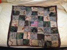 Military Camo Patch Quilt Baby Blanket by MilitaryMemoriesUSA, $50.00