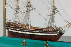 Model of the Russian 66 gun ship Pobedonosec, side view