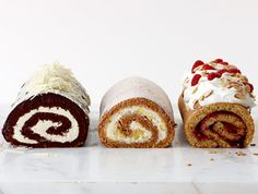 Oh the variations I can imagine! How to Video: How to Roll a Roulade Cake.