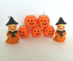 Vintage Halloween Candles Lot Gurley or Suni by BornAtTheWrongTime on Etsy