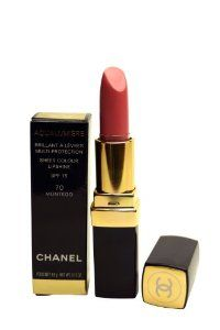 Chanel Aqualumiere Lipstick - No.70 Montego - 3.5g/0.12oz by CHANEL. $37.64. 3.5g/0.12oz. A high performance glossy lipstick to protect & beautify your lips Shea butter nourishes & soothes lips Continuous hydration leaves lips soft & suppleSafeguards skin against harmful effects of UV rays with SPF15 Vitamin E helps slow aging & prolong youthfulness of lips Incredible shine in semi-sheer shades reveal fullness of you lips. Save 20% Off!
