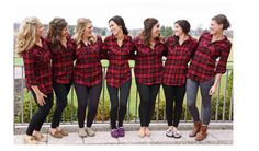 SET OF 5 Red and Black Bride Flannels. by AmbitiousStyles on Etsy