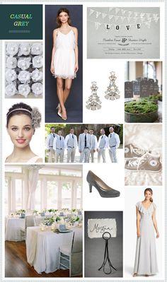 REVEL: Casual Grey wedding inspiration