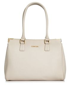 dfc2f4bc51 Calvin Klein On My Corner Saffiano Leather Satchel & Reviews - Handbags &  Accessories - Macy's