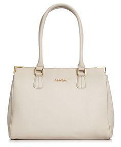 Calvin Klein Handbag, On My Corner Saffiano Leather Satchel - Handbags & Accessories - Macy's