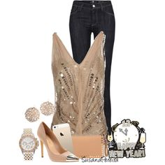 """""""Casual"""" New Year's Eve party!!, created by susanapereira on Polyvore"""
