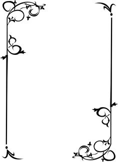 Border design for form or page Borders For Paper, Borders And Frames, Arabesque, Page Borders, Motif Floral, Writing Paper, Border Design, Book Of Shadows, Paper Background