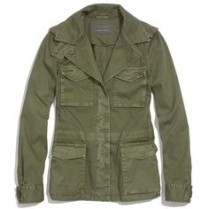 MADEWELL Outbound Jacket (330 BRL) ❤ liked on Polyvore featuring outerwear, jackets, tops, coats, olive tree, army green jacket, military style jacket, cotton military jacket, army green military jacket and olive field jacket