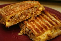 Cooking Claire: Grilled Mac and Cheese with Pulled Pork Panini