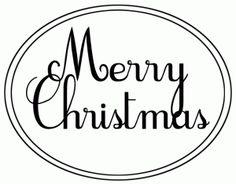 Merry Christmas oval; Really pretty choices