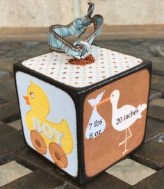 Ornaments for Birth Announcements created by Blocks From The Heart