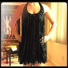 Beautiful Beaded ❤️Bebe Dress Beautiful beaded dress by Bebe❤️sz small❤️ it's gorgeous the pictures do not do it justice❤️paid $199trades please use offer button via all listings ❤️ bebe Dresses Mini