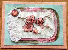 Cross-stitch gift card...
