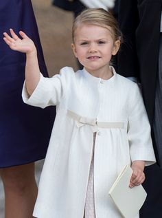 Princess Estelle of Sweden is seen at Drottningholm Palace for the Christening of Prince Nicolas of Sweden at Drottningholm Palace on October 11 2015...