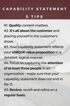 capability statement template free