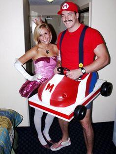 Princess Peach and Mario...kart! Cute halloween couples costume
