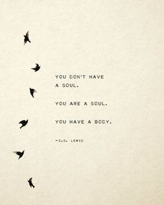 CS Lewis quote print you dont have a soul you are a soul poetry art gift for her soul Organisch Soul Poetry, Poetry Art, Rumi Poetry, Poetry Books, Quotes About God, Quotes To Live By, You Are Quotes, Quotes From Books, Literature Quotes