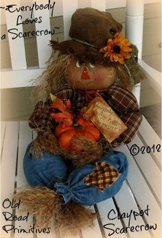 fall scarecrow primitive cloth doll pattern