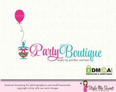 Party Boutique Premade Logo Design