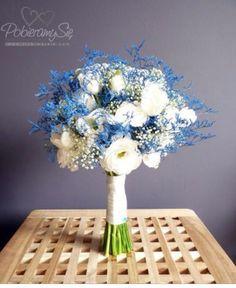 Blue flowers idea