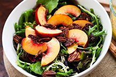 Nectarine Spring Mix Salad with Lemon Vinaigrette
