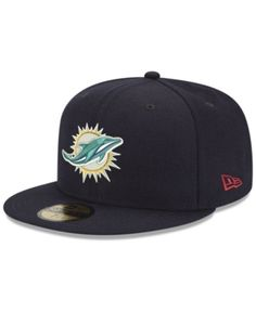 9396a0d79 New Era Miami Dolphins Team Basic 59FIFTY Fitted Cap - Blue 6 7 8
