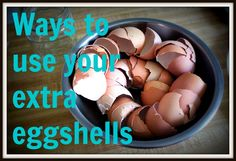 Don't know what to do with those extra eggshells? Here's a few tips on how you can use your extra eggshells AND save money by making your own supplement.