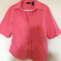 Salmon colored top Salmon colored top with 4 buttons down the front. New York & Company Tops