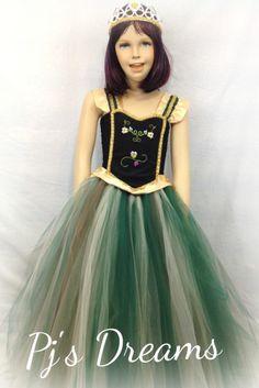 Anna Coronation tutu dress frozen inspired parties costume dance phot prop 5-6