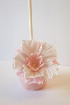 Sugarpaste bridal couture cake pop by Evie and Mallow Wedding Sweets, Wedding Favours, Wedding Cakes, Wedding Bells, Wedding Ideas, Lollipop Cake, Cupcake Cakes, Baby Cakes, Cheesecake Pops