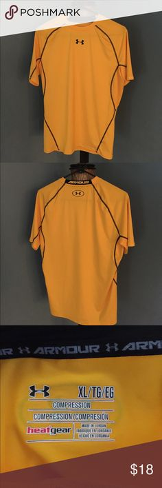 Under armour size large Under armour  size large bright yellow Under Armour Shirts Polos