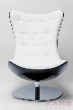 Arm Chair Atrio Deluxe by KARE Design #ying #yang #black #white #blackandwhite #yingyang #yingandyang #design #armchair #atrio #style #KARE #KAREDesign