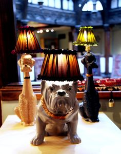 Make a statement in your living space with Abigail Ahern's quirky dog lamps available from Liberty.co.uk
