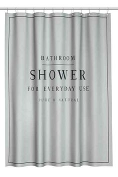 Text-print shower curtain