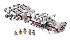 LEGO Star Wars Tantive IV (10198) by LEGO.Includes 5 minifigures: Princess Leia, C-3PO, R2-D2, Captain Antilles and a Rebel Trooper
