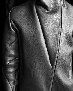 Leon Emanuel Blanck bison leather jacket with cashmere lining. #leonemanuelblanck