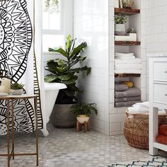 Turn your bathroom into a blissful, Boho escape. Shop this look via our profile link. #TargetStyle
