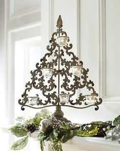 An elegant votive holder adds the perfect ambience to any room. #holidays #holiday2012  HomeDecorators.com